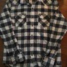 Men's American Eagle Xl Grey White Button Down Shirt Vintage Fit