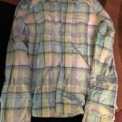 Women's Colombia Omni-shade Sun Protection Green Blue Plaid Button Down Shirt