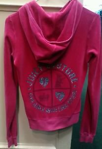 Juicy Couture Velore Pink Zip Up Hoodie Medium