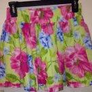 Women's Hollister Skirt, Small, Pink Green And Blue Flowered