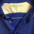 Men's Large Blue Nike Golf Dri Fit Short Sleeve Polo Shirt