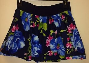 Women's Hollister Skirt, Small, Navy Blue With Flowers