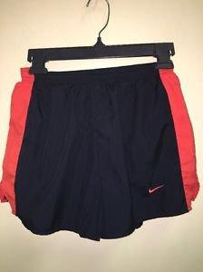 Women's Size Small Navy Blue Orange Nike Dri fit Athletic Running Shorts