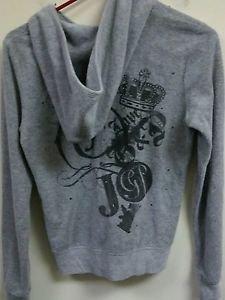 Womens Medium Gray Juicy Couture Zip Up Hoodie