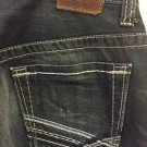 Mens Bke Carter Jeans Size 32/30 Dark Denim Wash Thick Stitch