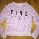 Small Victoria's Secret Pink Light Purple Animal Print Sweatshirt