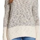 $295 NWT Women's Med Beige Vince Marble Color block Knit Sweater V 186275384