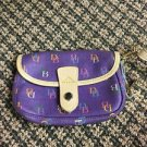 Dooney And Bourke Purple Wristlet DB Signature Canvas Pvc