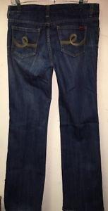 Women's Size 10 Seven 7 Jeans Dark Wash Boot Cut