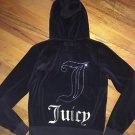 Women's Juniors Xl Juicy Couture Brown Zip Up Hoodie Bling Rhinestones