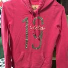 Hollister Small Pullover Hoodie Pink With Silver Glitter