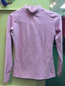 Women's Large Pink Under Armour Turtleneck Mock Shirt