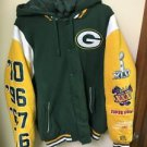 Men's Large Green & Yellow Nfl Green Bay Packers Hoodie Jacket
