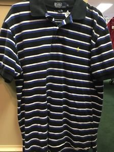 Men's Polo Ralph Lauren Striped Short Sleeve Shirt. Size Extra Large