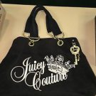AUTHENTIC JUICY COUTURE BROWN VELOUR TOTE BAG PURSE OVERNIGHT WEEKENDER BAG