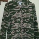 Youth Columbia camo zip up sweatshirt size 14/16