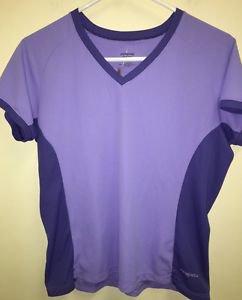 Women's Large Purple Patagonia Apilene Short Sleeve Athletic Shirt