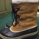 Sorel Caribou Women 9 Mens 6 NM1000-281 Buff Brown Waterproof Snow Boots
