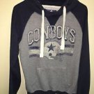 Women's Small Blue Grey Pullover Hoodie Sweatshirt  Cowboys Legends Collection