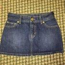77 Girls By American Eagle Dark Wash Size 10 Denim Jean Skirt
