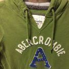 Women's Juniors Medium Green Abercrombie And Fitch Pullover Hoodie Sweatshirt