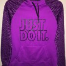 Women's M Purple All Time Work Out Hoodie Nike Just Do It-Therma Fit Nwot$69