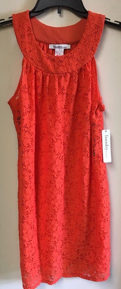 Laundry by design Orange  lace dress Small NWT $105 sleeveless