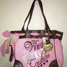 NWT Pink Brown Juicy Couture XL Purse Viva La Juicy
