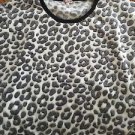 Women's Juniors XL Juicy Couture White Black Soft Animal Print Crop Sweatshirt