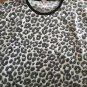 Women's Juniors XL Juicy Couture White Black Soft Animal Print Crop Sweatshirt