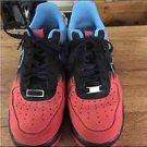 "Nike Air Force One 1 Low ""Spider man"" Crimson Black Blue 488298 615"