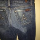 7 Seven for All Mankind Jeans Size 27 Style # U130055U-055U A Pocket Rhinestones