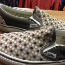 Vans Off The Wall Slip On Shoes Sneakers Brown Tan Pink Polka Dot Men's 7 W 9