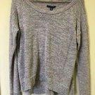 Nwot American Eagle Small Purple Grey Glitter Metallic Hi Lo Sweater