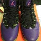 Nike Men Jordan Prime Flight Basketball shoes 616846-018 Size 10.5 Purple-018
