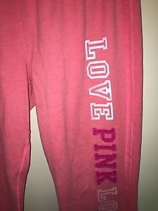 Victoria's Secret Pink Xs Peach Pink Crop Sweatpants
