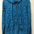Fox Racing Women's Small Blue Zip Up Hoodie Jacket
