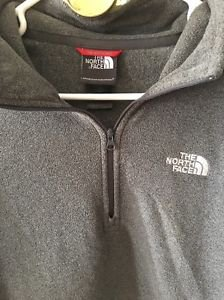Men's Medium Grey The North Face Fleece Pullover Half Zip Long Sleeve Shirt