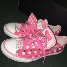 Converse All Star Petal Pink White Polka Dot Strawberry Double Tongue Shoes Y4