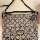 "COACH Brown Khaki ""KRISTEN OPTICAL ART"" Hobo Tote #14912 RP$398"