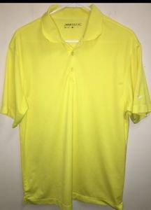 Men's Medium Yellow Nike Golf Dri Fit Polo Shirt