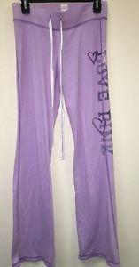 Women's Xs Purple Victoria's Secret Love Pink Lightweight Sweatpants Heart Pink
