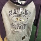Reebok NFL Baltimore Ravens Purple And Gray Pull Over Hoodie. Size Medium