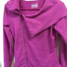 Womens SM Pink/Purple Under Armour All Season Gear Semi Fitted Zip Up Yoga Shirt