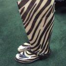 Ralph Lauren Womens Zebra Rubber Rain Boots Rossalyn Brown