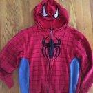 Youth Xl Marvel Spider-Man Zip Up Hoodie Sweatshirt W Hood Mask