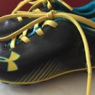 Little Kids Size 11 Black Yellow Blue Under Armour Soccer Cleats