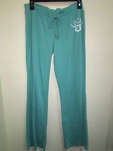 Lucky Brand Size Small Teal Turquoise Light Weight Drawstring Lounge Pants
