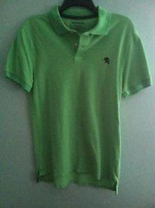 Men's Medium Green Express Short Sleeved Polo Shirt
