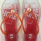 PHILADELPHIA PHILLIES BASEBALL LADIES LOGO FLIP FLOP SANDALS WOMEN'S Large
